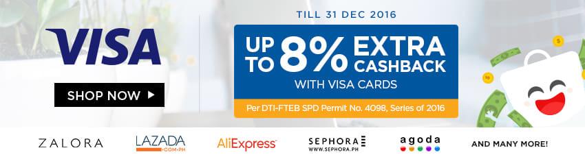 Visa Increased Cashback only at shopback.ph/visa