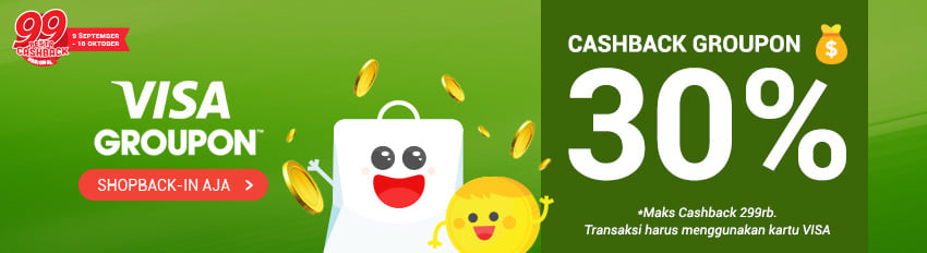Groupon ID VISA Cashback Jumbo 30%