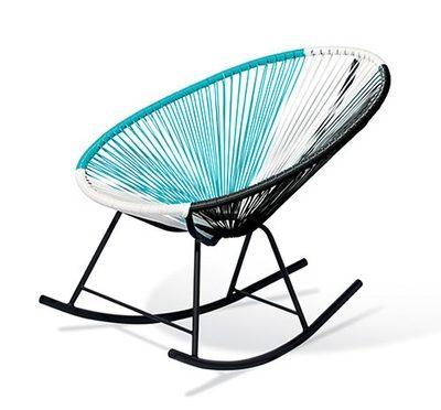 Acapulco Rocking Chair - Blue, White Black Mix