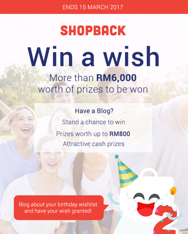 ShopBack Anniversary Birthday WIN A WISH blog contest