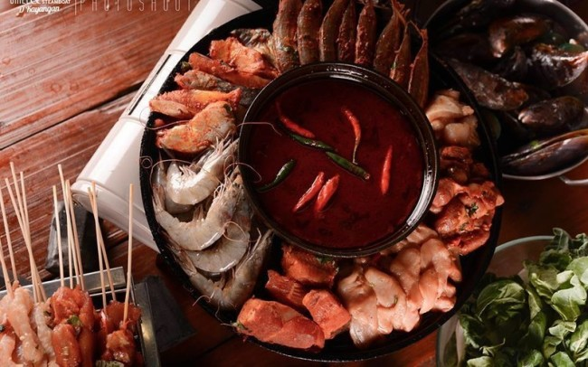 Barbecue and steamboat buffet