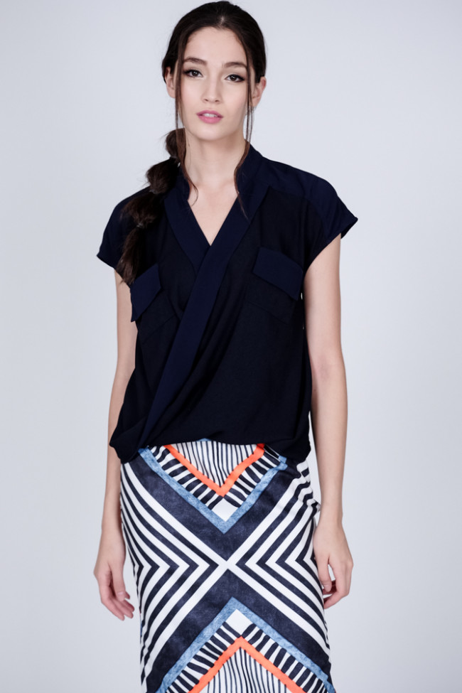 Friesa Top in Midnight
