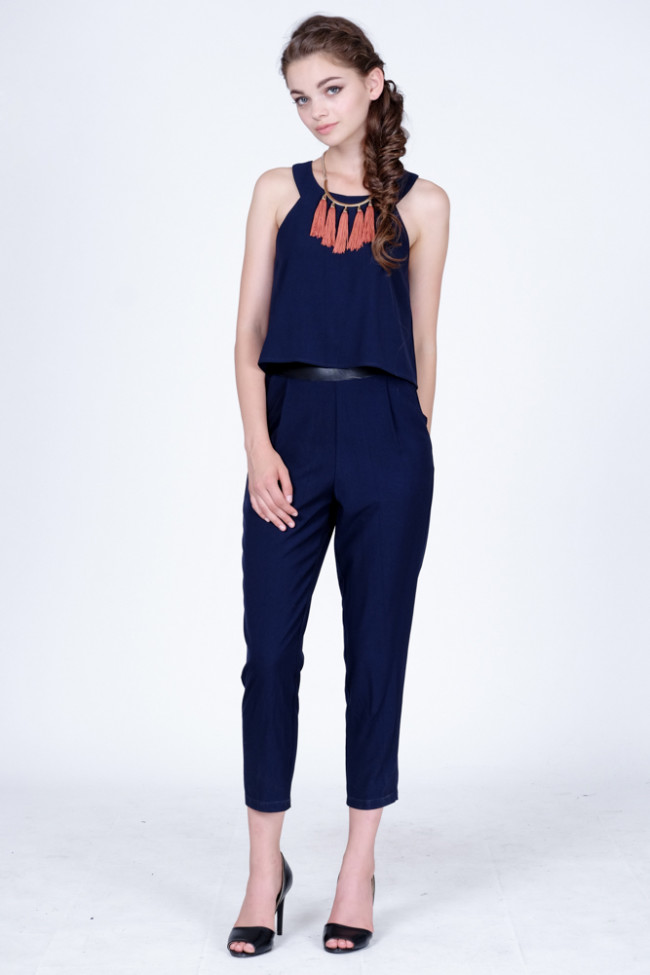 Carlia Jumpsuit in Navy