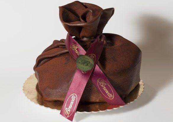 A wrapped up chocolate delight with Bacio SemiFreddo Cake