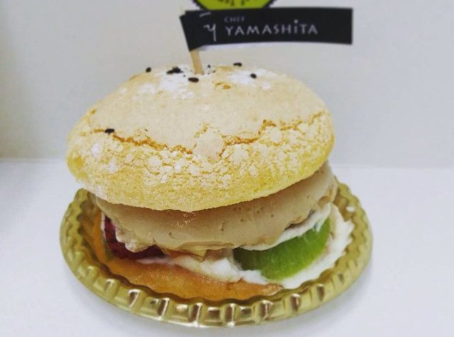 Artfully arranged CY Burger