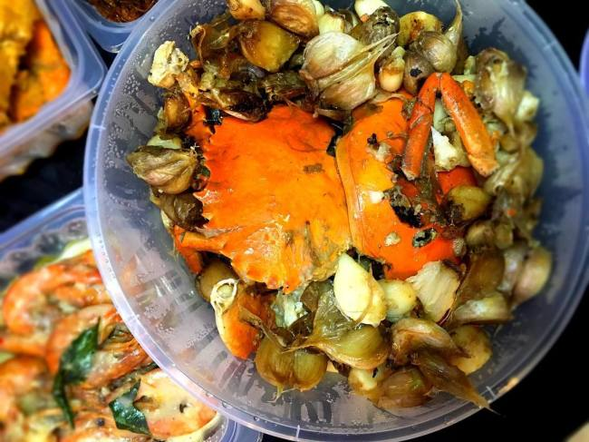 Garlic crab popular favourite new ubin seafood