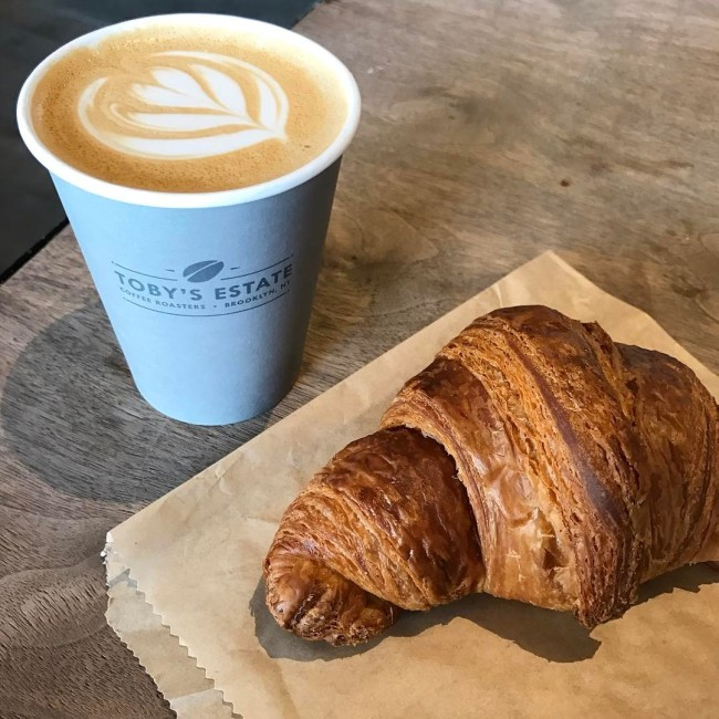 Coffee croissant Toby's Estate Singapore