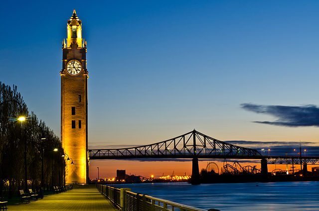 Montreal clock tower