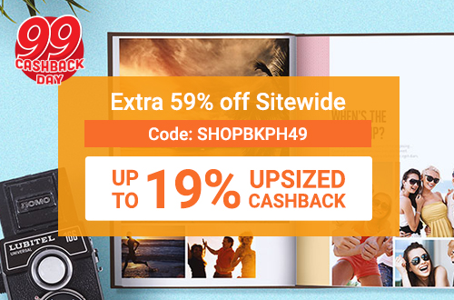 Extra 59% off Photobooks and Canvas Prints