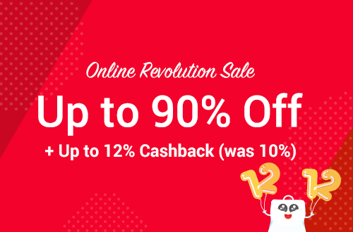 Lazada Promotion: Lazada Online Revolution Sale: Sales Up to 90% Off