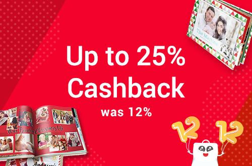 Photobook Worldwide Promotion: 12.12 Special: Up to 25% Cashback