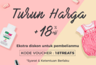 Turun Harga + Extra Disc 18% Off All Items