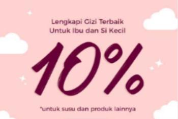 Diskon 10% Untuk Produk Susu & Produk Lainnya
