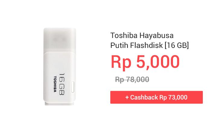 oshiba Hayabusa Putih Flashdisk [16 GB]