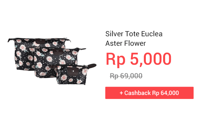 Silver Tote Euclea Aster Flower