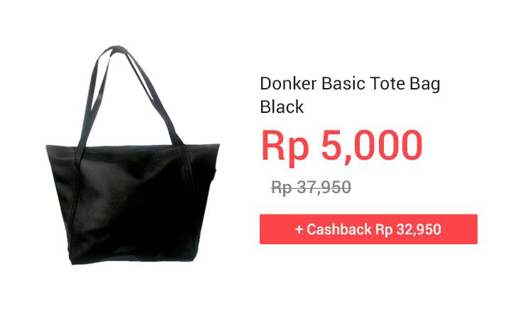 Donker Basic Tote Bag Black