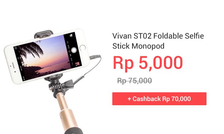 Vivan ST02 Foldable Selfie Stick Monopod