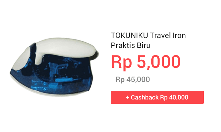 TOKUNIKU Travel Iron Praktis Biru
