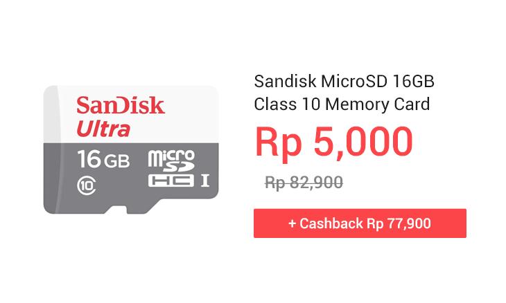 Sandisk MicroSD 16GB Class 10 Memory Card