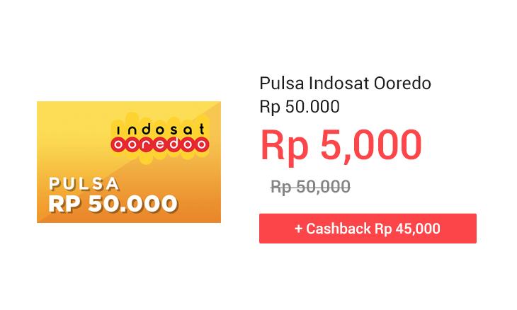 Pulsa Indosat Ooredo Rp 50.000