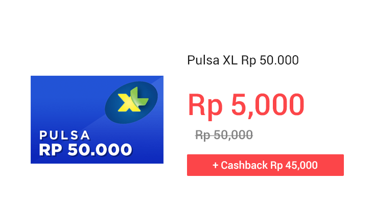 Pulsa XL Rp 50.000