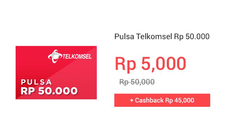 Pulsa Telkomsel Rp 50.000