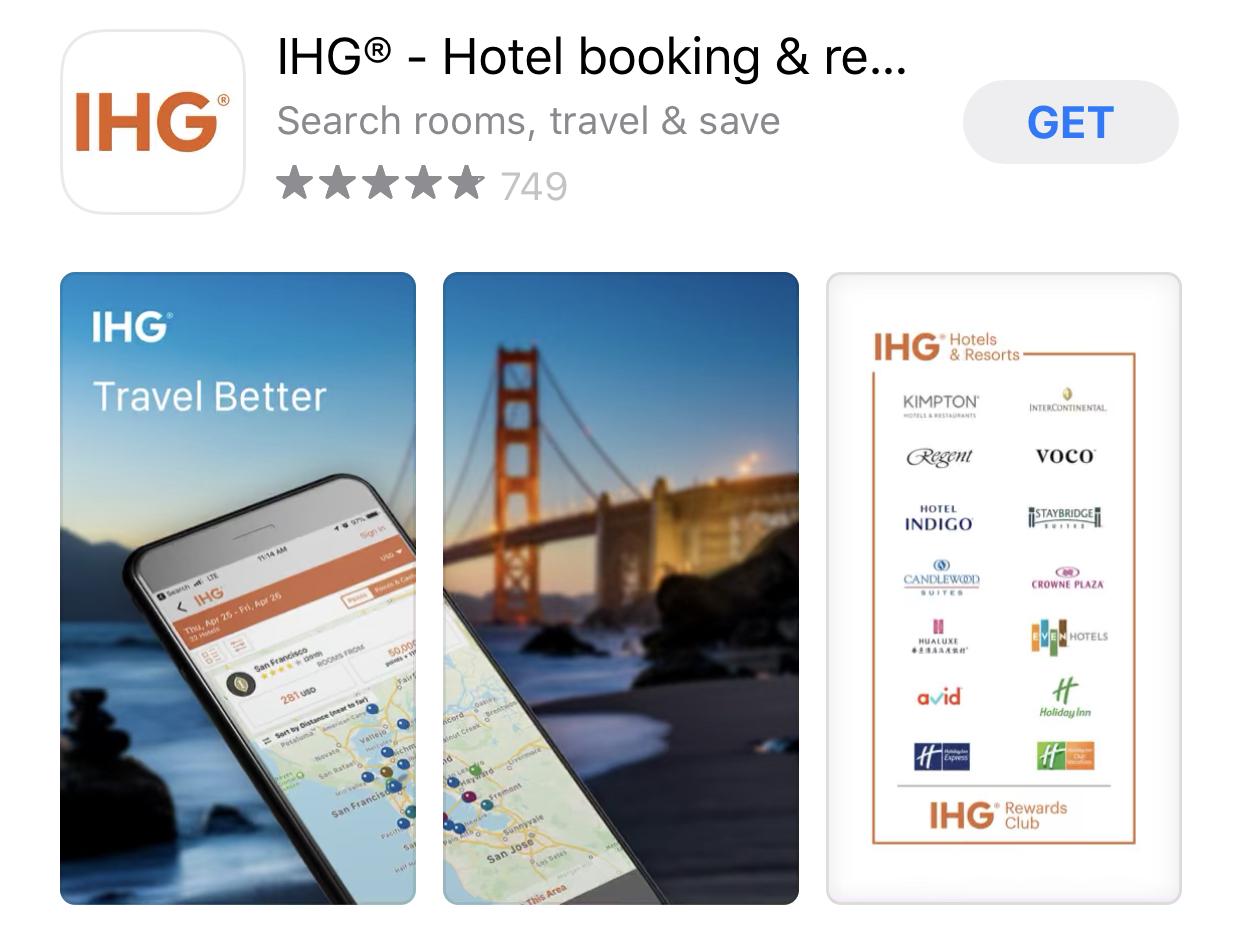 ihg hotels App - ShopBack