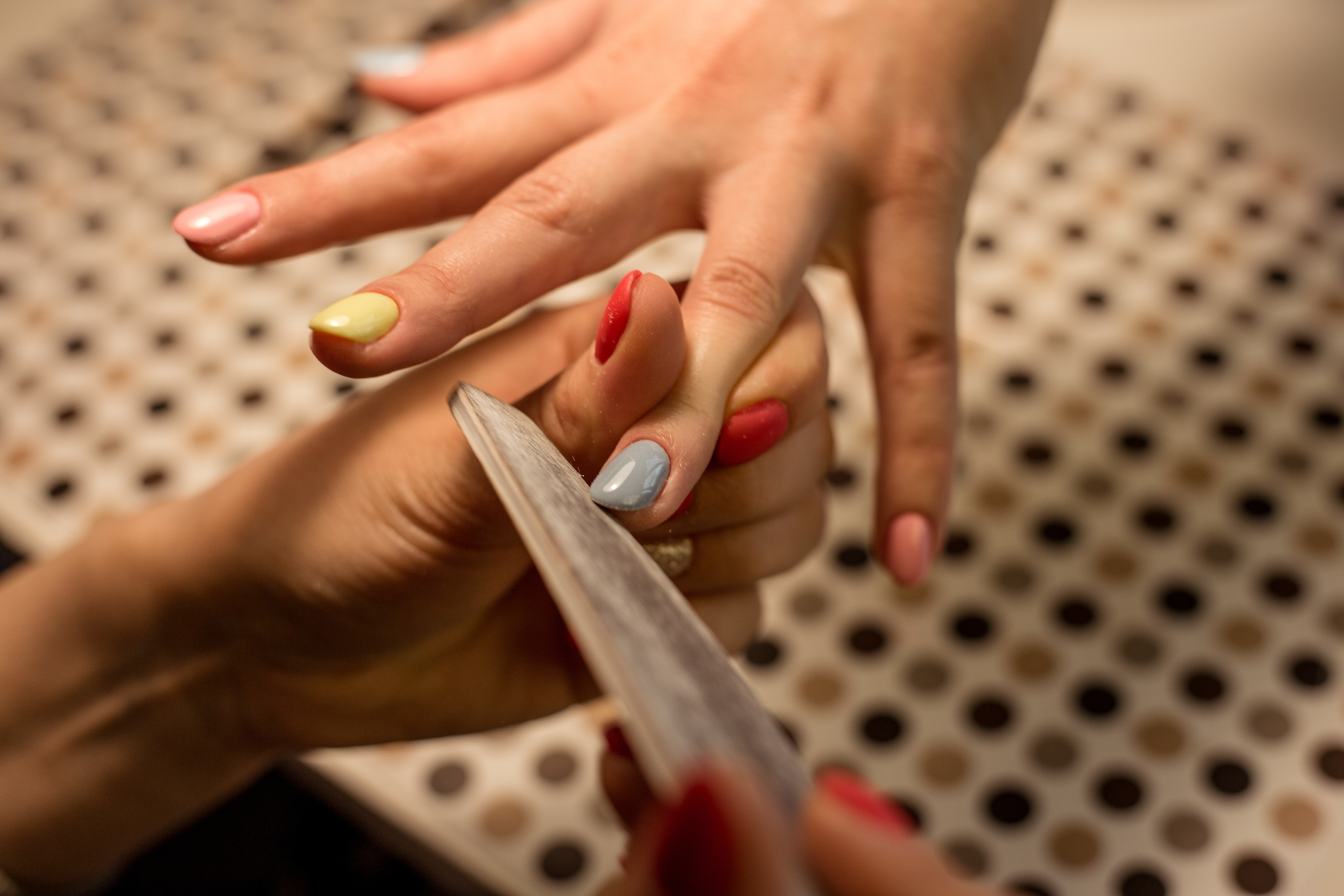 Classic Manicure + Pedicure + Foot Scrub for 1 Person (2 Sessions)