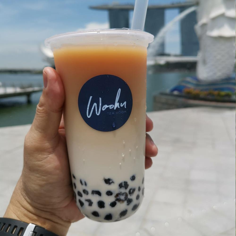 1 x Medium Woohoo Milk Tea with Black Pearls