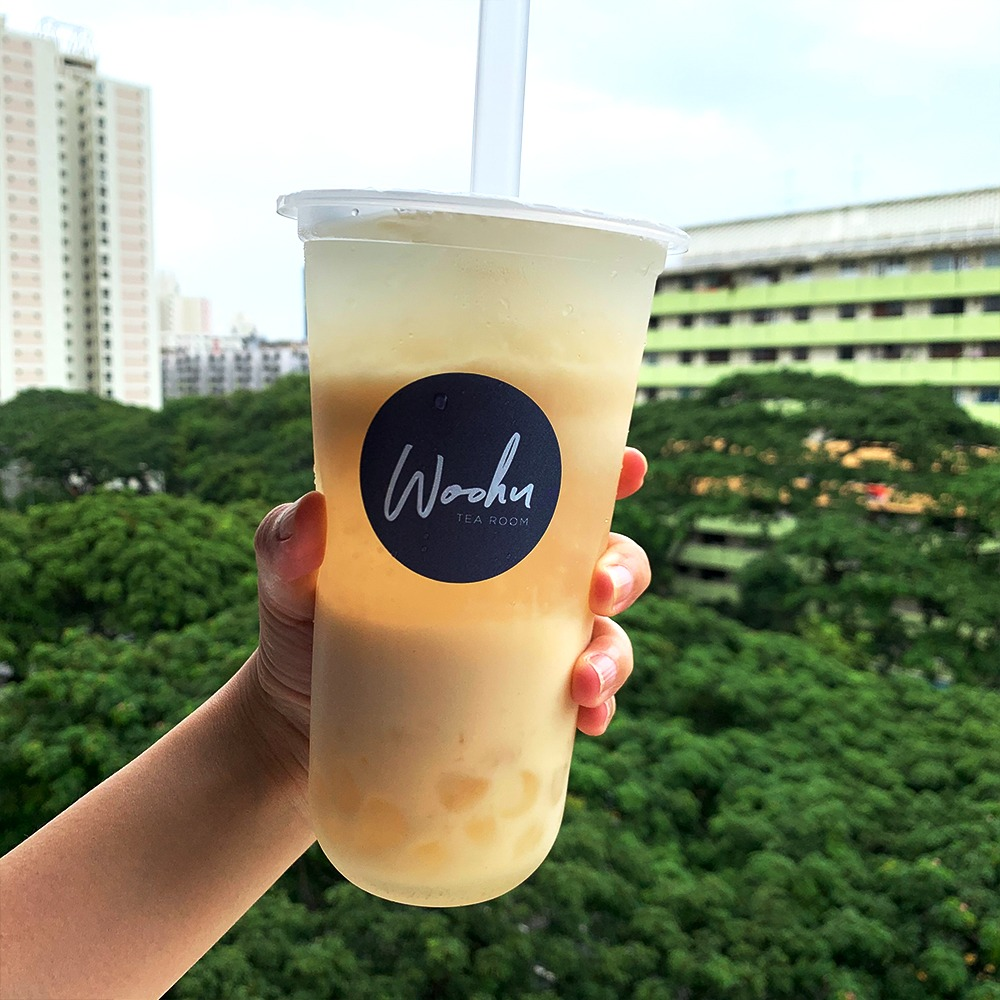 1 x Medium Yakult Green Tea with White Pearls