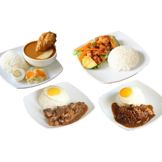 2 x Rice Meals with Drink