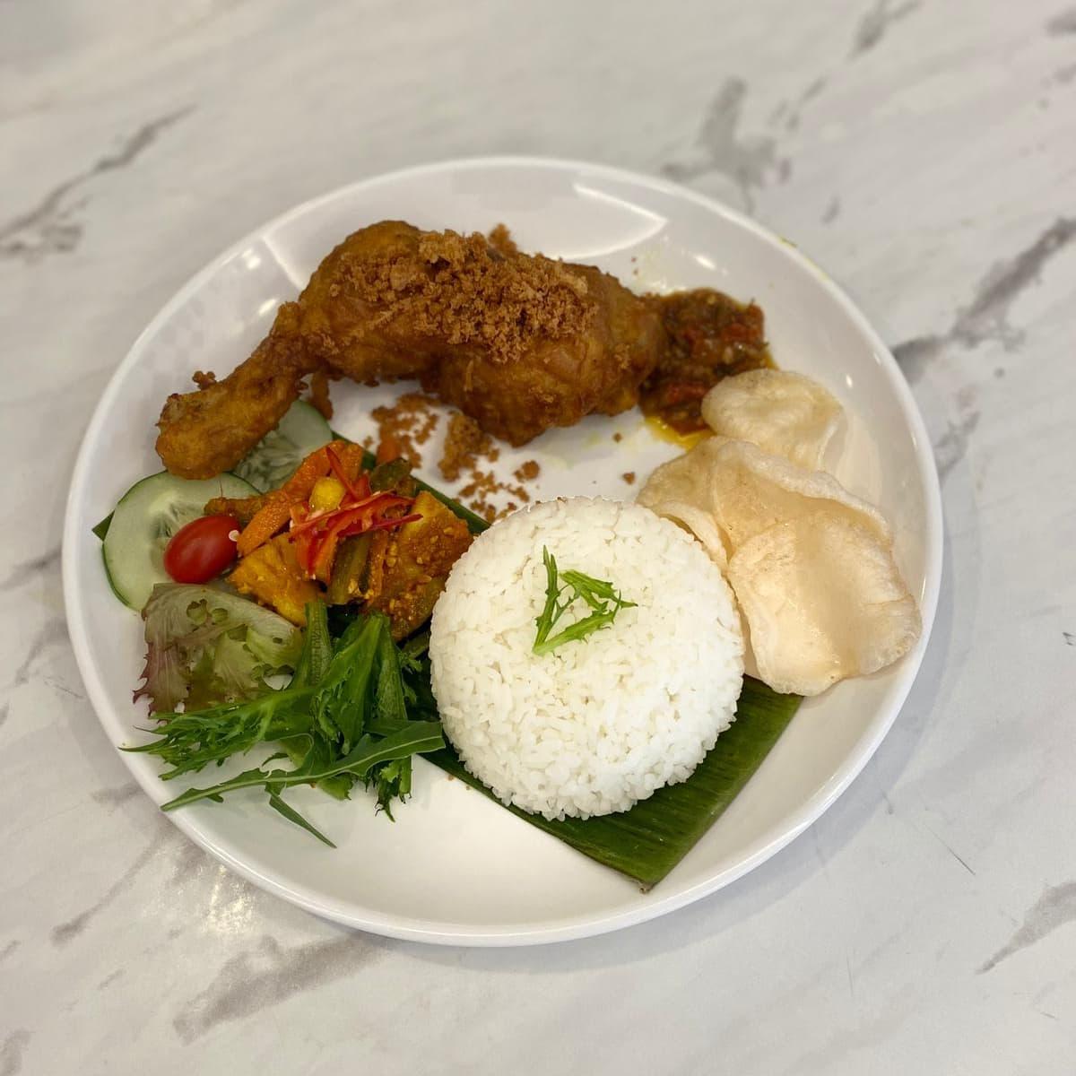 1 x Ayam Penyet / Ayam Panggang + Rice @ Killiney Purvis Street