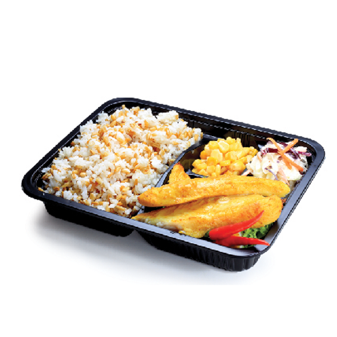 1 x Bento Set Meal + Cold Drink + Dessert