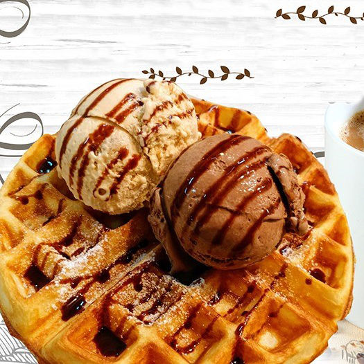5 x Ice Cream Scoops + 1 x Waffle