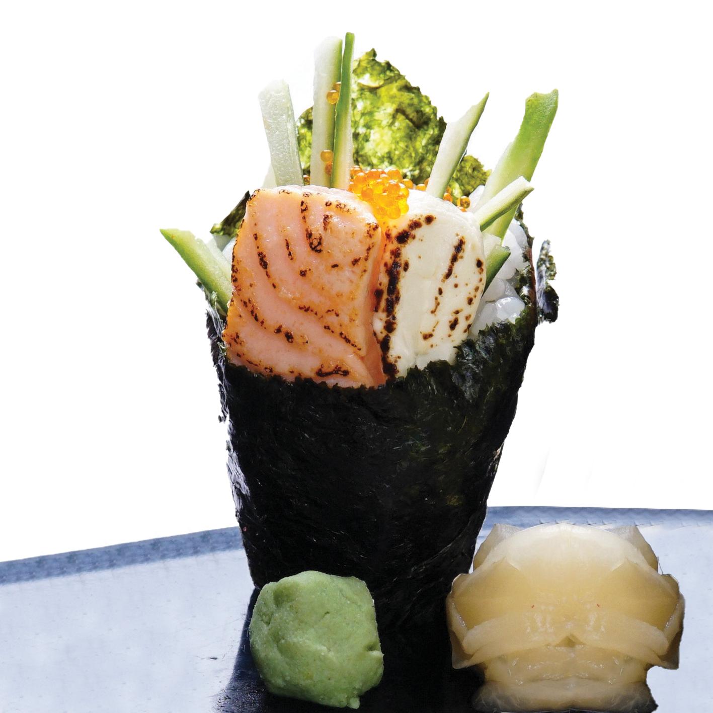 1 x Aburi Salamon Cheese Temaki / Unagi Temaki