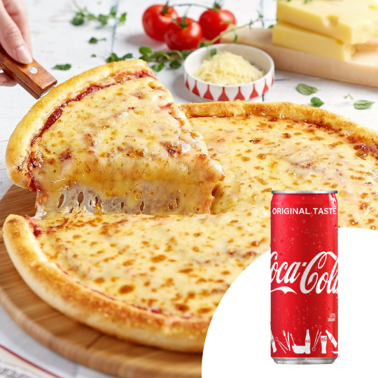 1 x Classic Slice of Pizza + 1 x Can of Coca-Cola [Limited Stock]