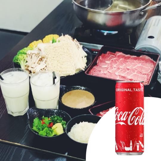 2 x A La Carte Wagyu Beef Sukiyaki & Shabu Shabu Twin Pot + Coca-Cola