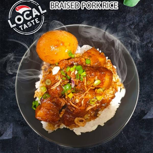1 x Braised Pork Rice with Drink Set