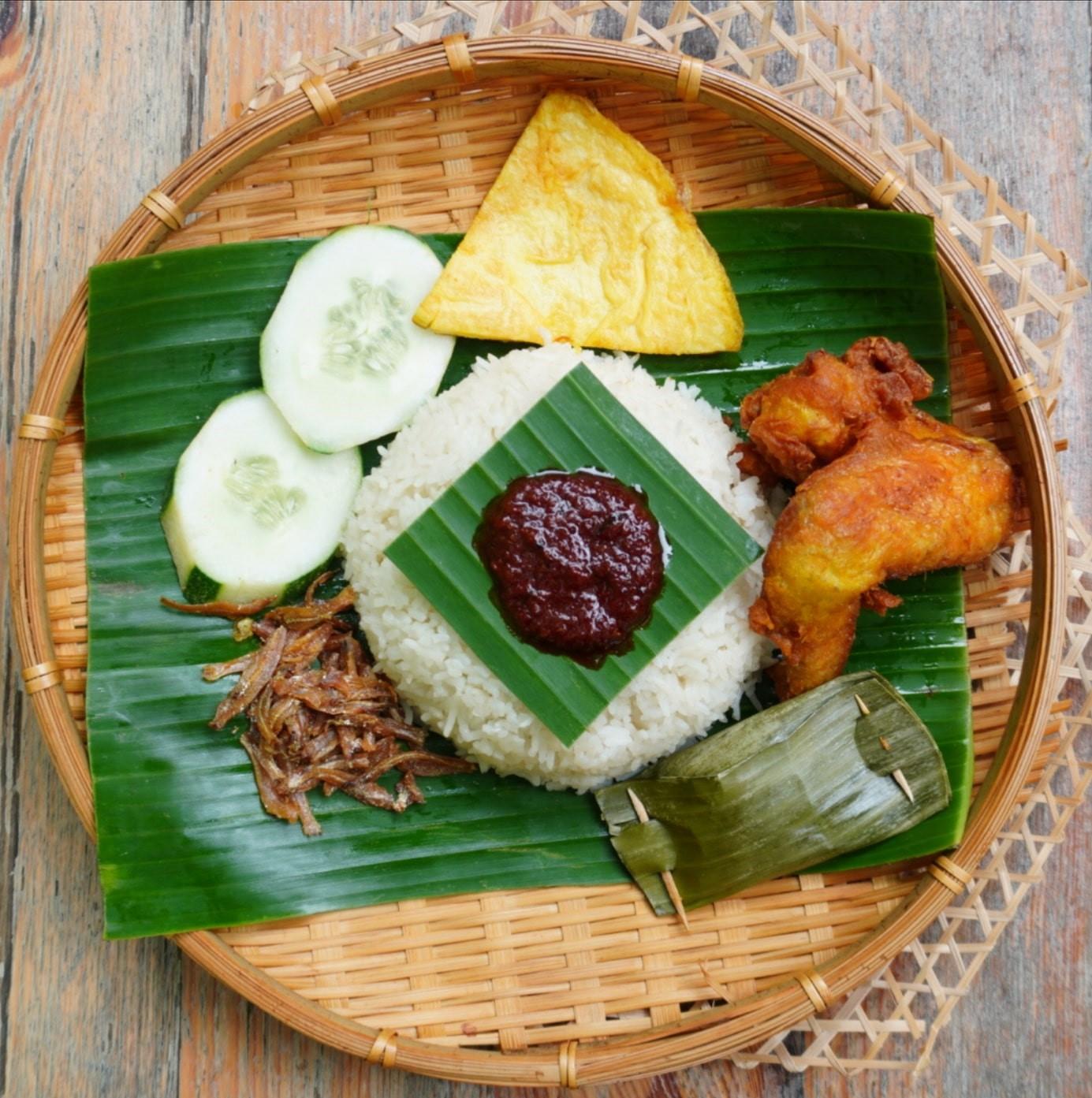 1 x Nasi Lemak + Chicken Wing + Otah Set