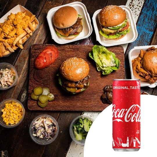 $4 Cash Voucher + 1 x Can of Coca-Cola at Wolf Burgers - Get Deals, Cashback and Rewards with ShopBack GO