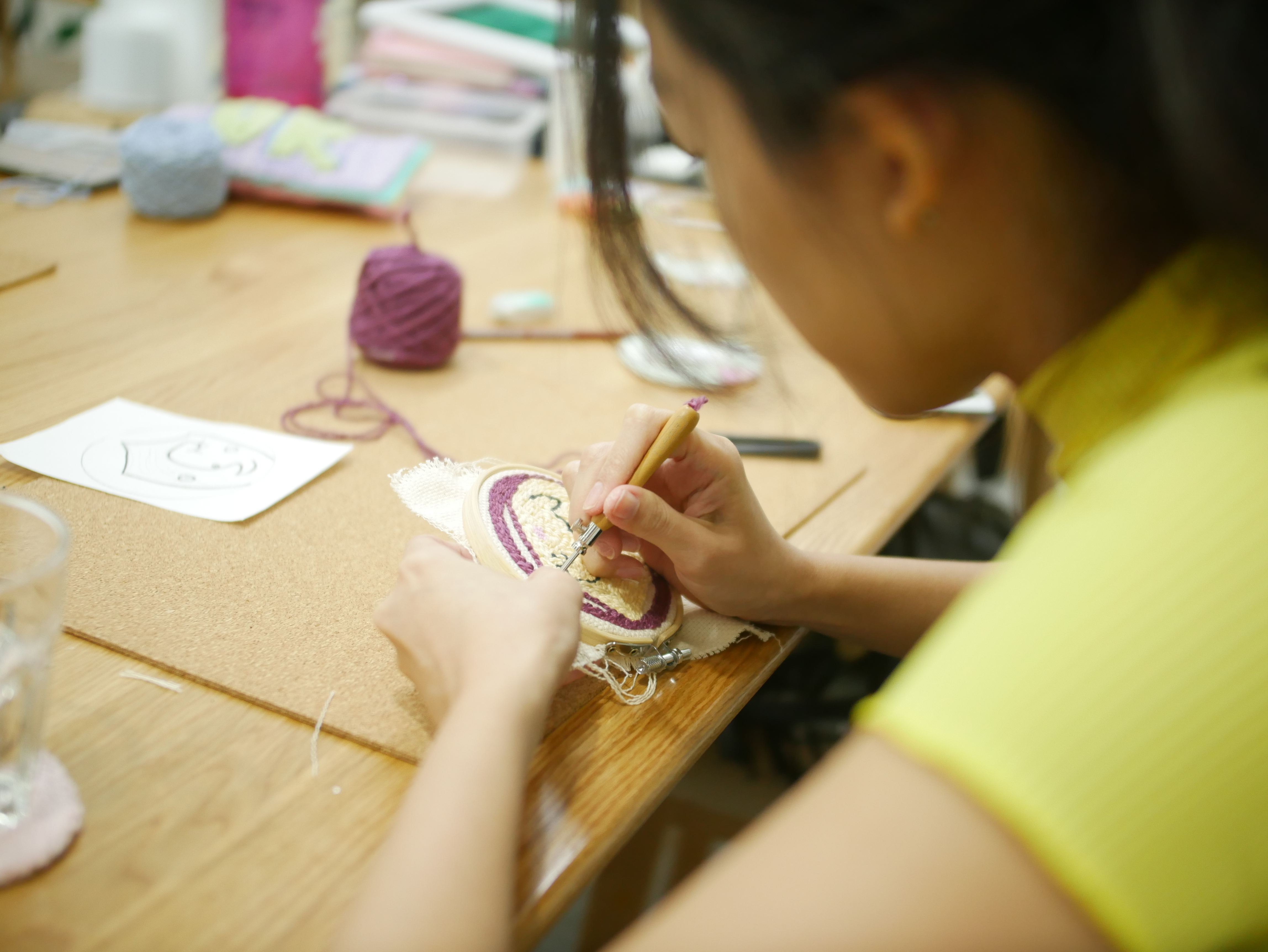 3 Hours Punch Needle Workshop with Free Tea (1 pax)