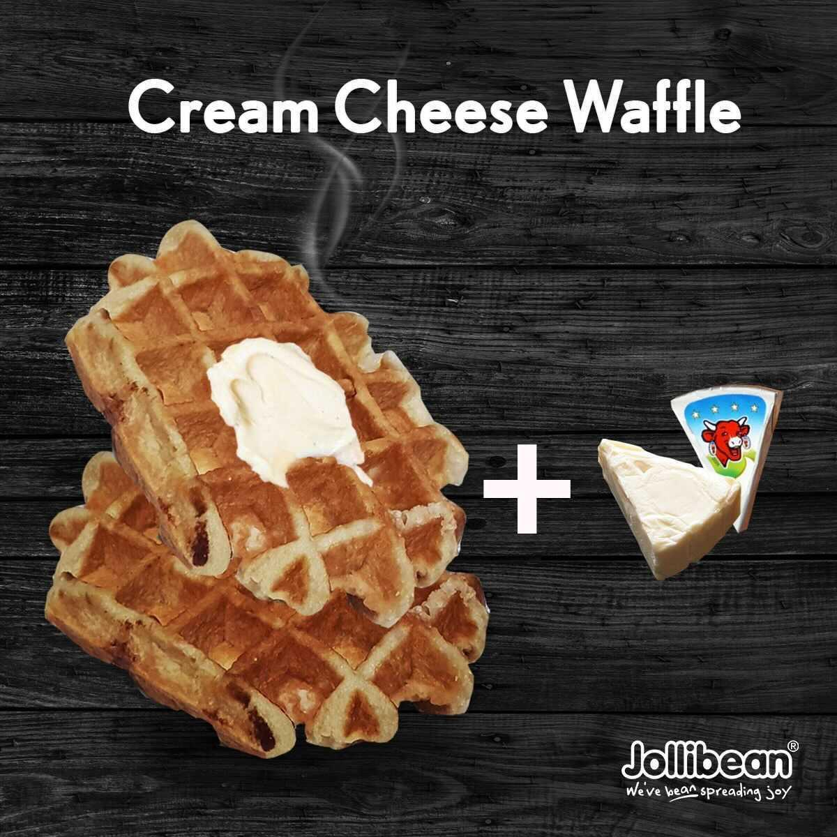 1 x Belgium Cream Cheese Waffle