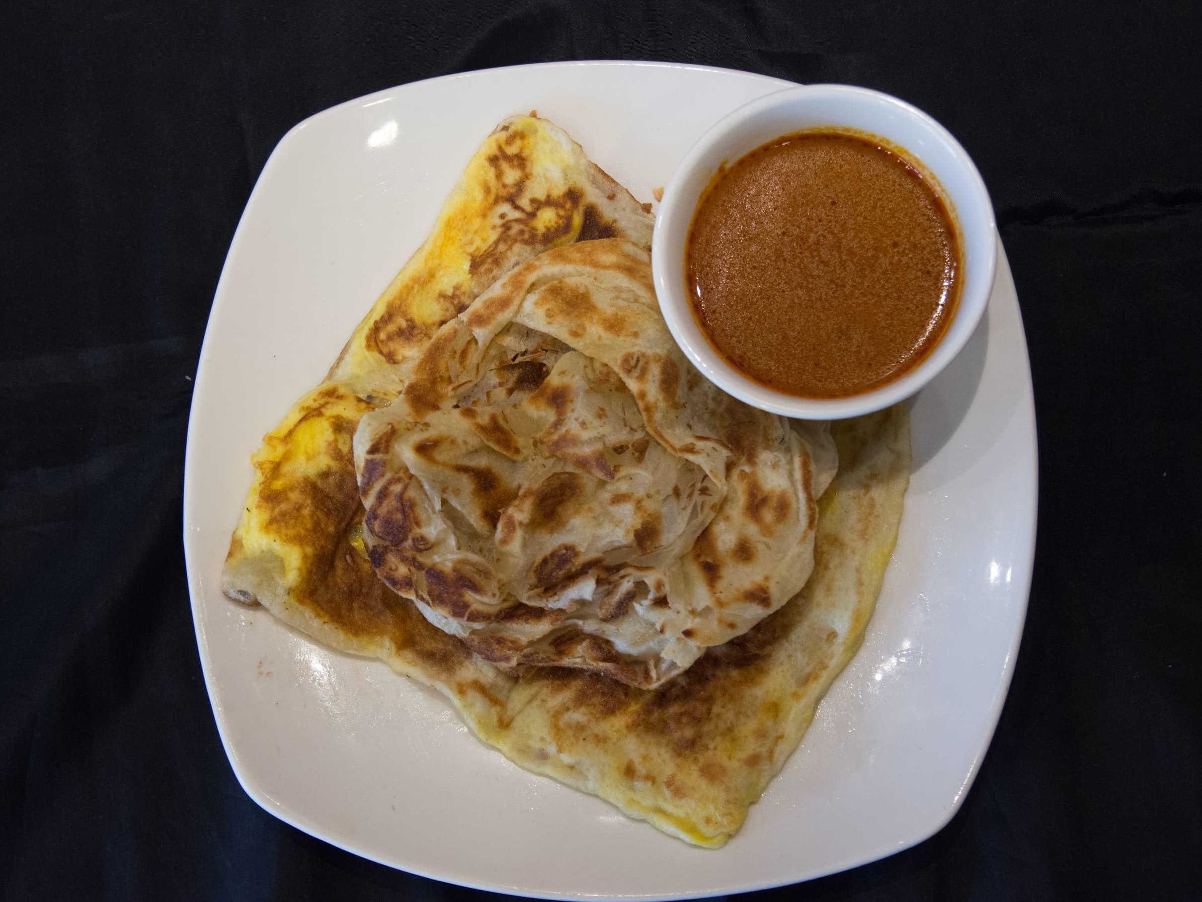 1 x Plain Prata + Egg Prata + Hot Drink