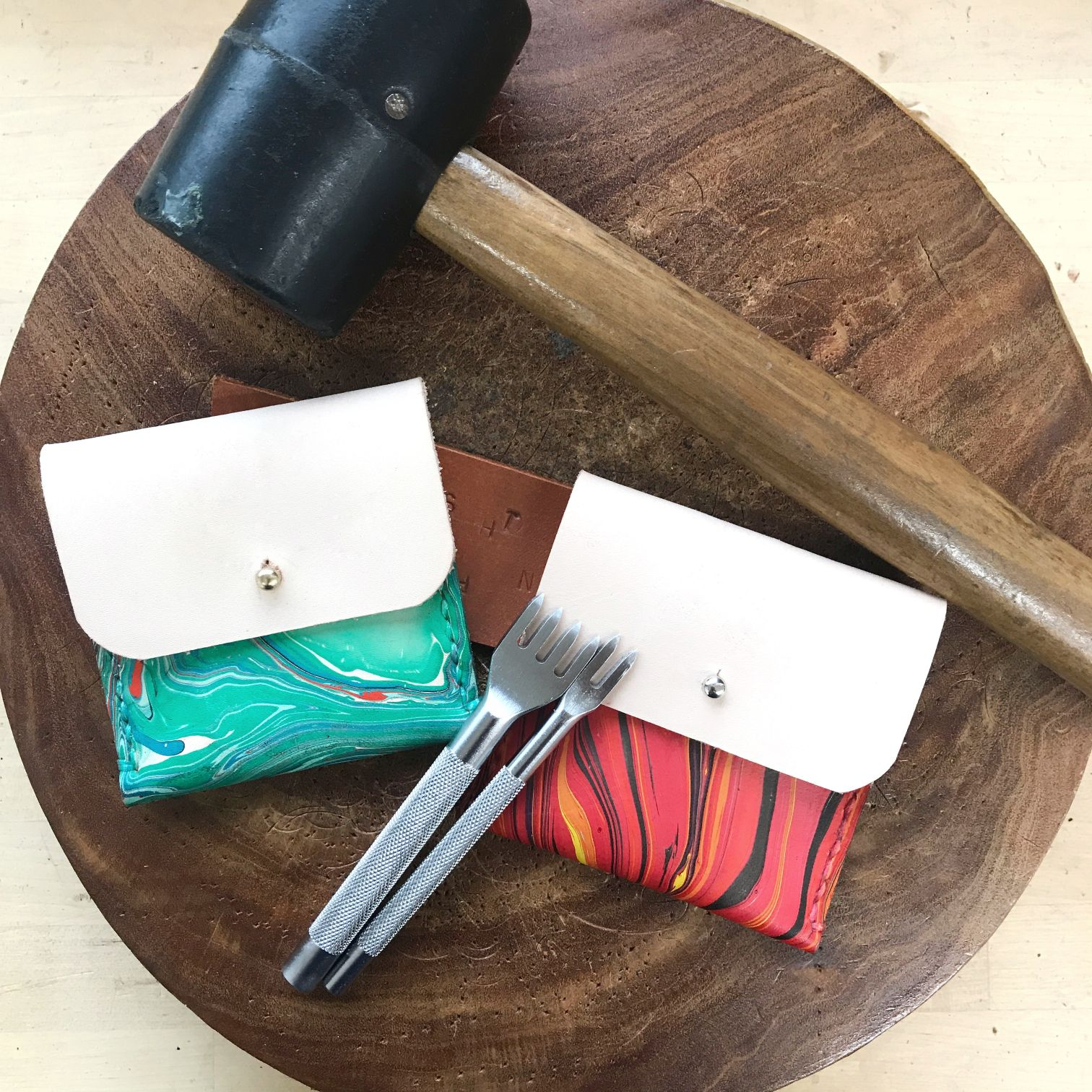 2.5 Hours Marbled Coin Pouch Workshop (1 pax)