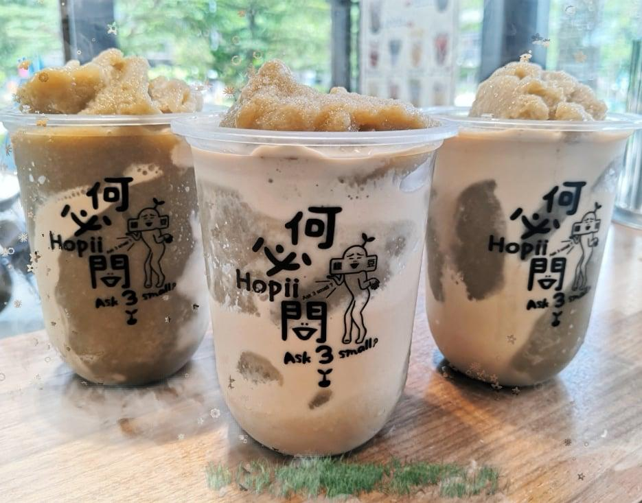 1-for-1 Mungbean Smoothie Boba Milk Tea with Pearl/Nata DeCoco (Medium)