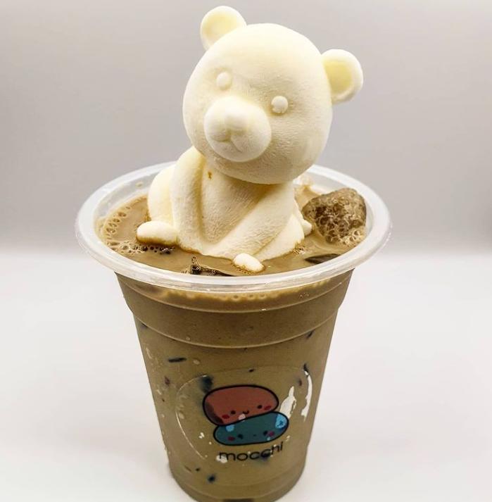 1 x Iced Latte with Matcha or Cream Cheese Kuma Bear
