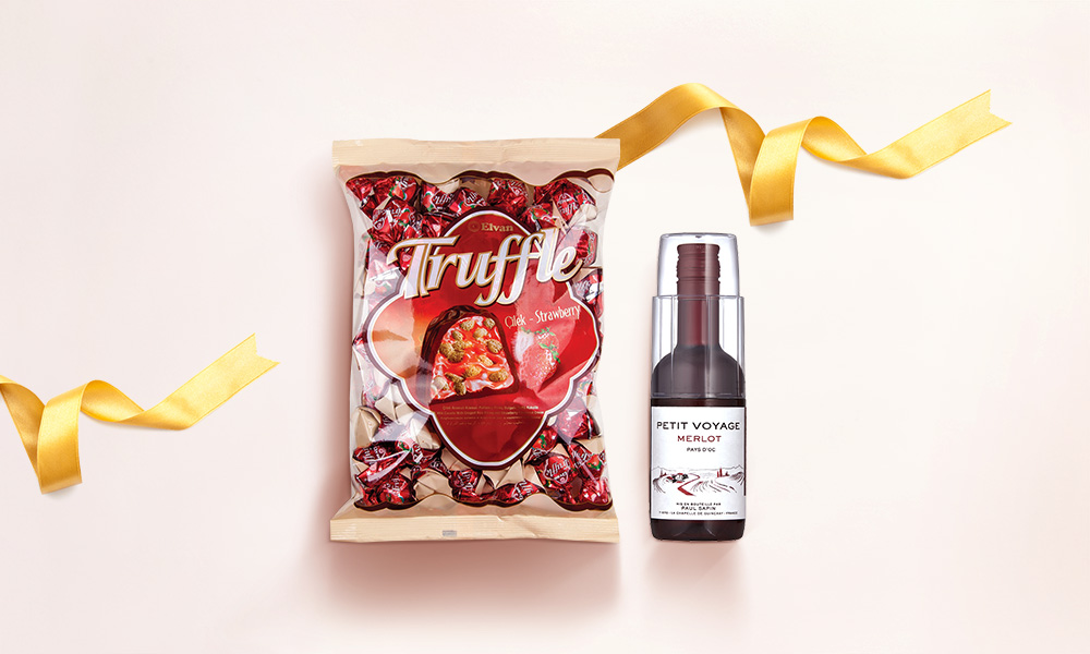 1 x Elvan Truffle Chocolate Bag & Red Wine Value Set [Limited Stock]