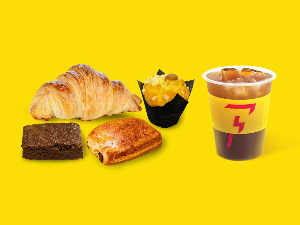 1 x Pastry/Brownie/Muffin + Americano Set