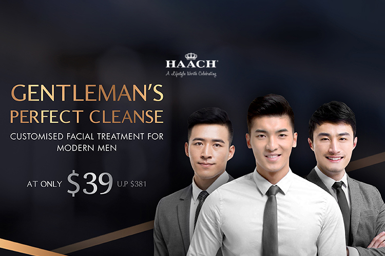 90 min Gentleman Perfect Cleanse Customized Facial Treatment