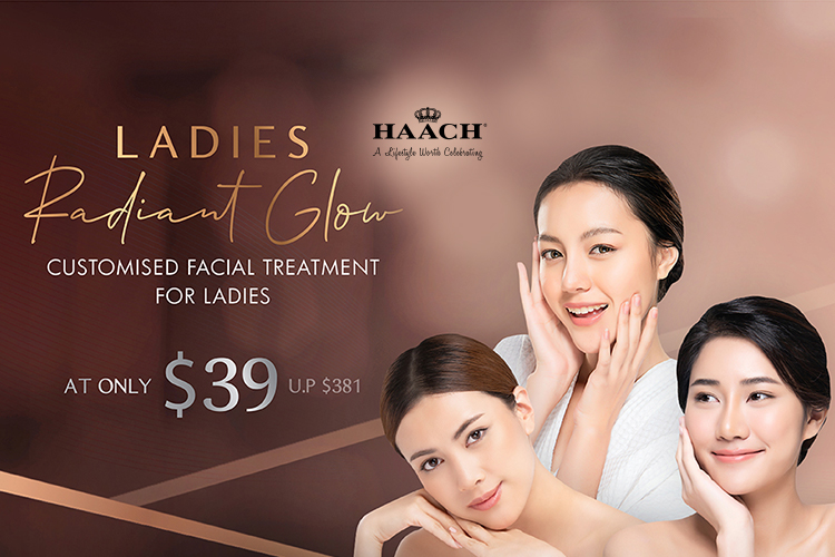 90 min Ladies Radiant Glow Customized Facial Treatment
